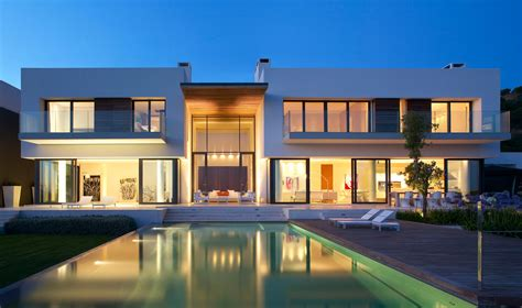 modern mansion house architecture luxurious andalucian villa with impressive views