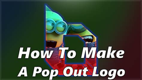 how to make something pop out of a card how to make a pop out logo