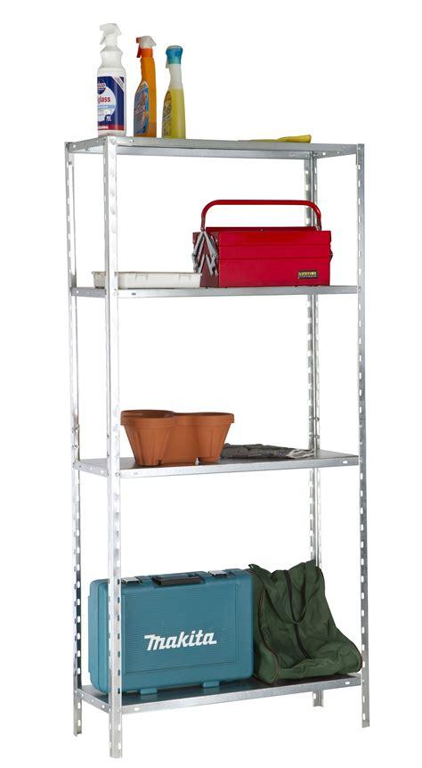 metal utility shelves 4 shelf galvanized metal utility storage racking shelves