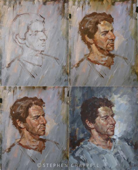 acrylic painting process nik acrylic portrait 42cm x 50cm steve chappell artist