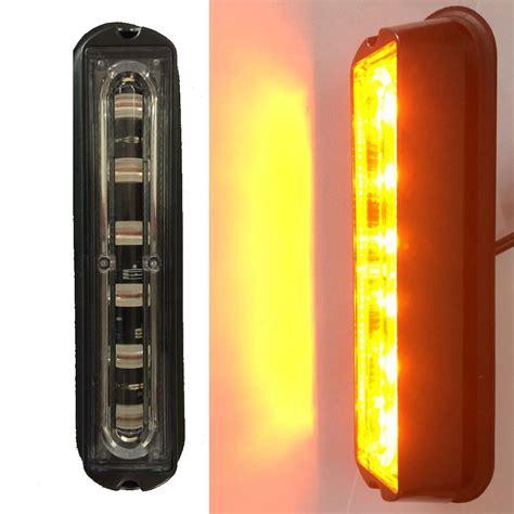 6 led grill strobe light bar emergency indicator beacon