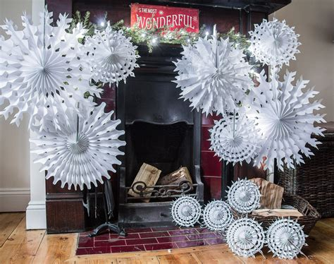 paper snowflake decorations pack of 12 paper snowflake hanging decorations