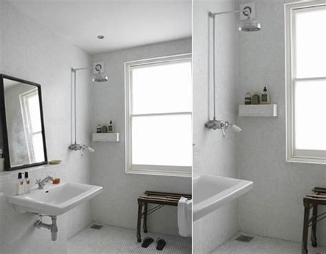 add shower to half bath shower better living through design
