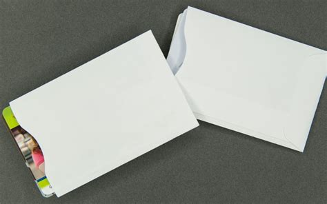 how to make card sleeves plain white card sleeve paper for 2 cards archives