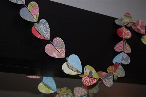 paper hearts crafts christiney s crafts paper garland