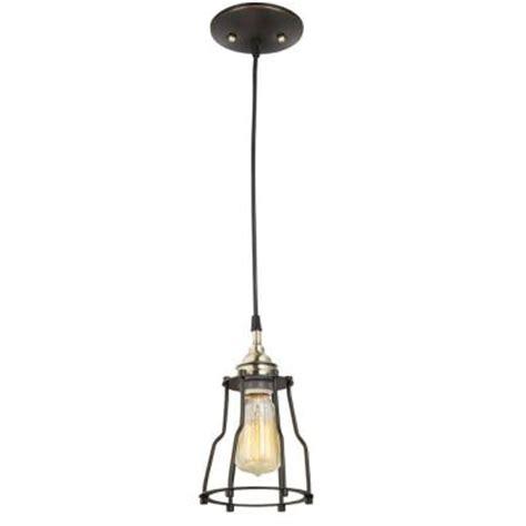 home depot hanging light fixtures globe electric vintage edison 1 light antique brass