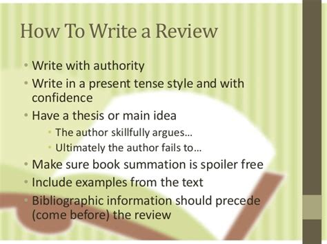 how to make a book writing a book review revised ed