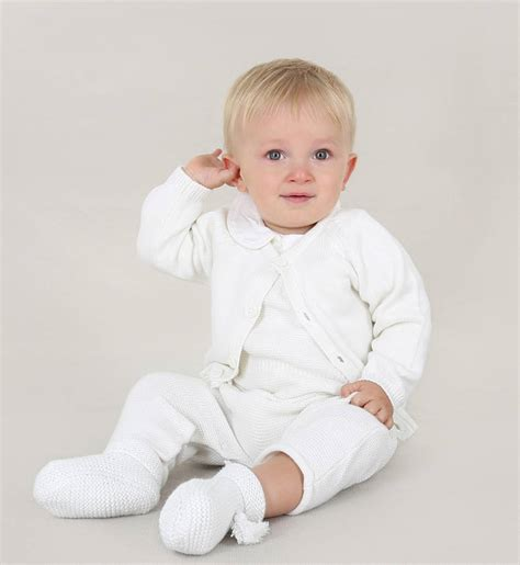 baby boy knit christening baby boy four knitted christening by chateau