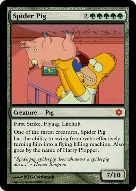 make mtg cards what if the simpsons was made into a magic the gathering