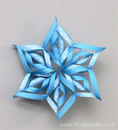 paper snowflake craft 3d paper snowflake craft crafts firstpalette