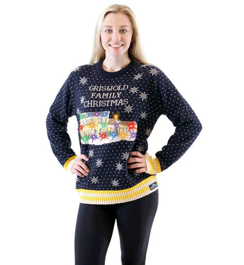 sweaters for with lights griswold family sweater led lights