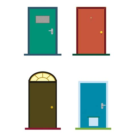 colorful doors colorful doors vector free