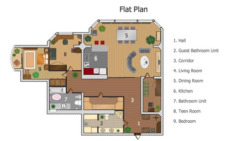 flor plan conceptdraw sles building plans floor plans