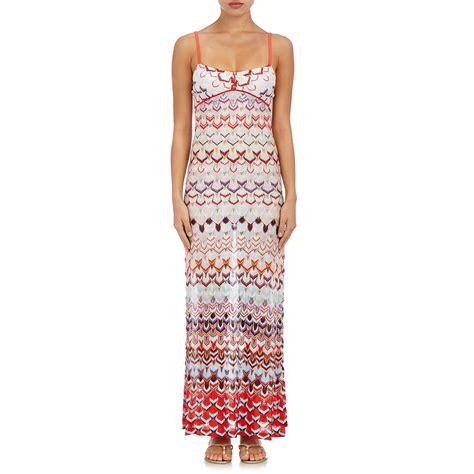 knit maxi dress missoni s knit maxi dress in white lyst