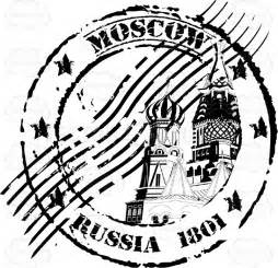 St Basil S Cathedral Moscow Russia Cancelled Rubber