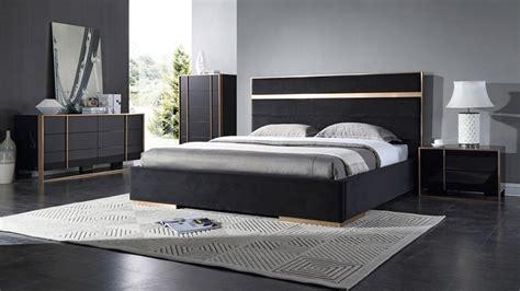 modern black bedroom furniture domus cartier modern black brushed bronze bedroom set