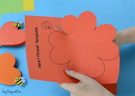 flower paper craft template paper flower craft with template easy peasy and