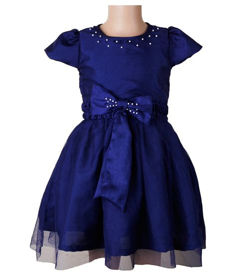 blue beaded dress littleopia blue partywear beaded dress with pair of