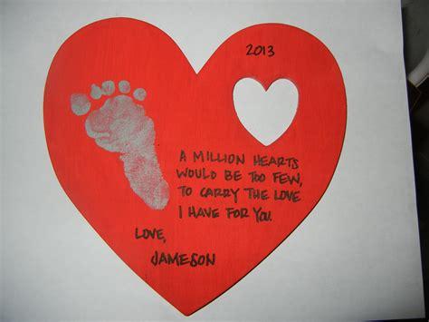 infant craft ideas wooden keepsake with footprint poem infant