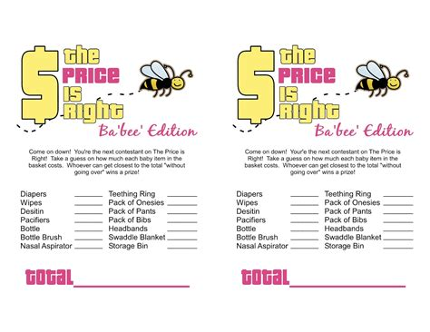 free printable baby shower games templates www