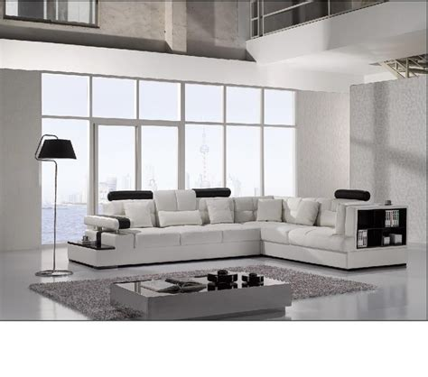 modern leather sofas and sectionals dreamfurniture divani casa t117 modern leather