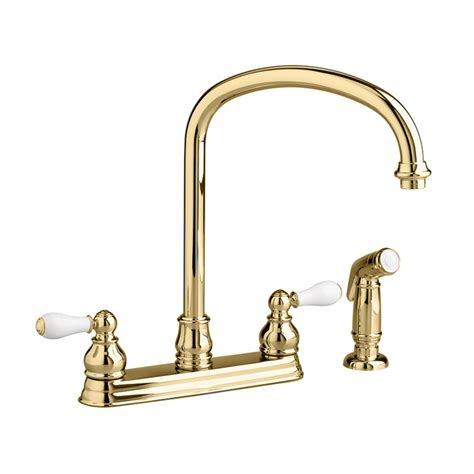 polished brass kitchen faucets moen polished brass kitchen faucets