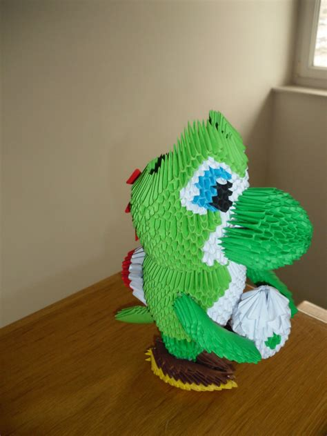 3d origami yoshi 3d origami yoshi by justtree on deviantart