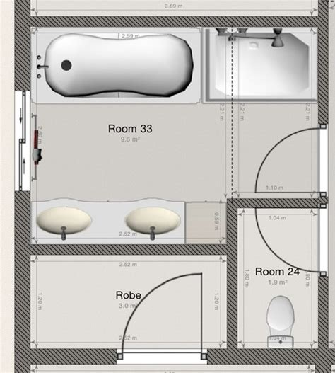 3 Bed 2 Bath House Plans layout of new bathroom