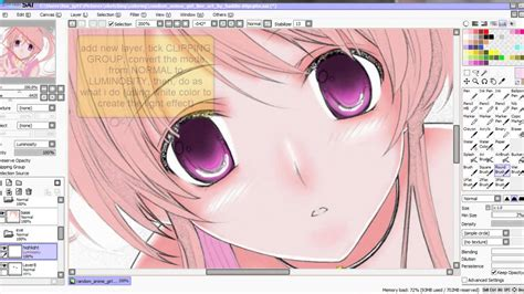paint tool sai coloring tutorial mouse tutorial on how to color eye in sai paint tool using
