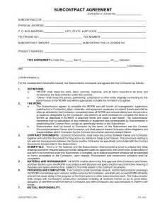 Subcontractors Agreement Template search results sub subcontractor agreement best car