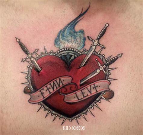 tatouage coeur avec des 233 p 233 es inkage