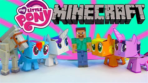 crafts with pony my pony boxos paper craft style minecraft figures