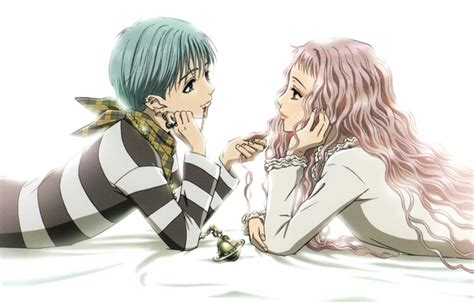 nana ai yazawa обои пирсинг зажигалка белый фон двое розовые