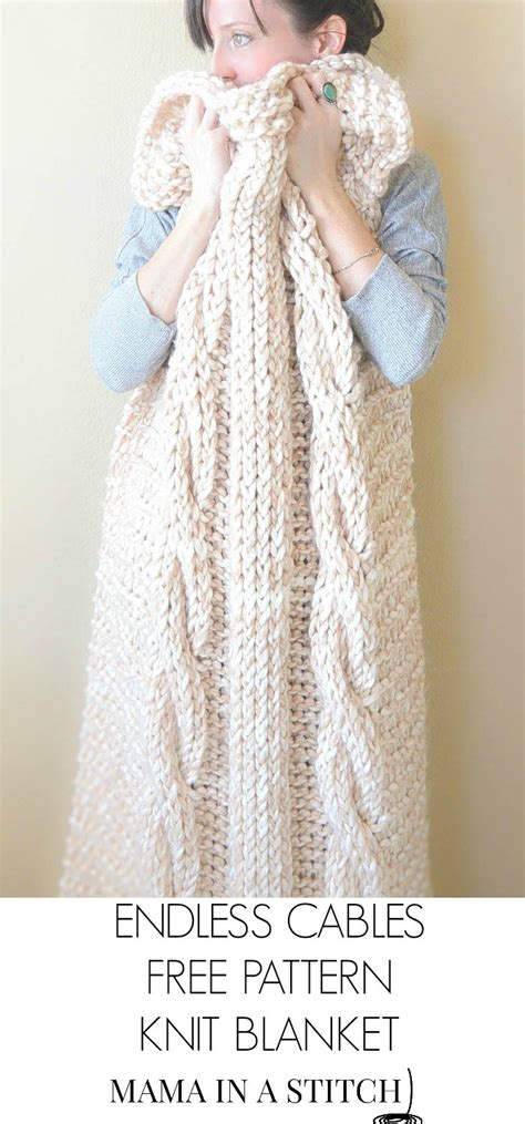 chunky free knitting patterns endless cables chunky knit throw pattern