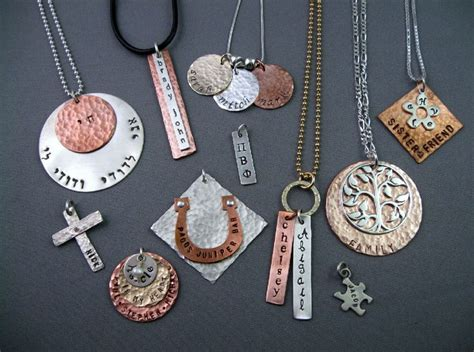 where to buy metal for jewelry personalized hammered metal jewelry sted jewelry