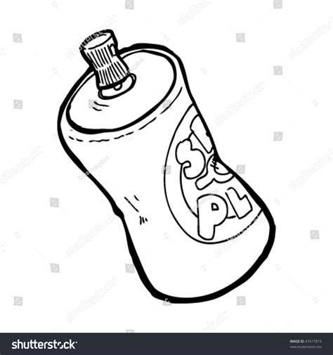 spray paint by sketch drawing spray paint can stock vector 47417815