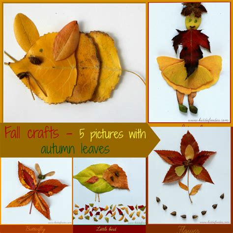 fall crafts fall crafts for 5 pictures with autumn leaves