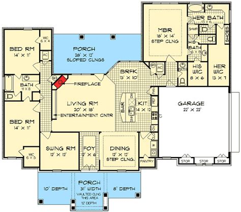 house plans with and bathrooms his and bathrooms 55137br architectural designs house plans
