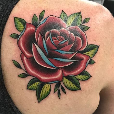 17 best ideas about traditional rose tattoos on pinterest