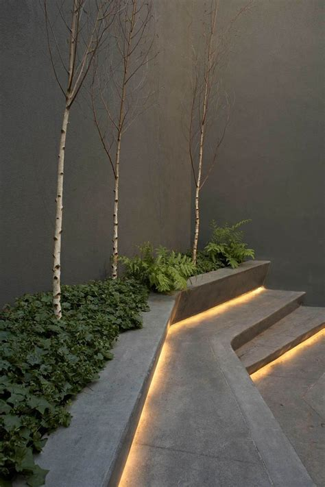outdoor step lighting use led lights the steps and create an