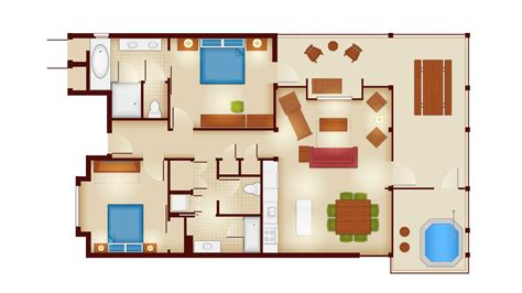 2 bedroom villa floor plans copper creek villas and cabins at disney s wilderness
