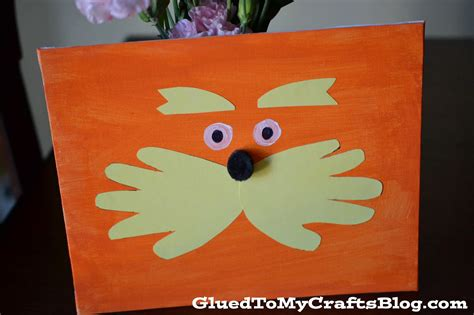 dr seuss crafts dr seuss inspired lorax canvas kid craft glued to my