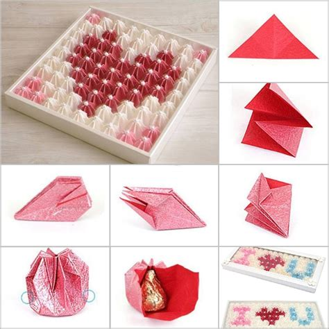 chocolate origami valentines diy search s day diy