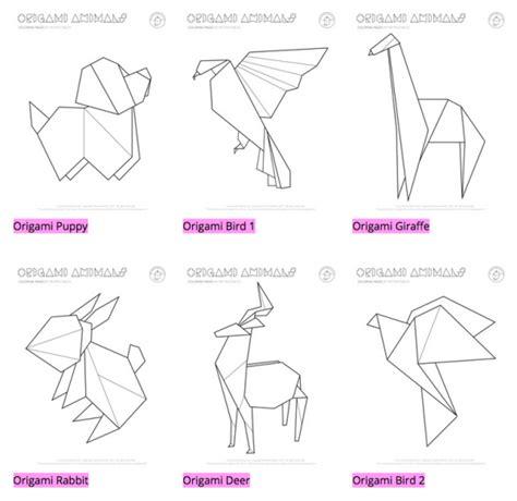 origami animals printable sweet graphic design mr printables design milk
