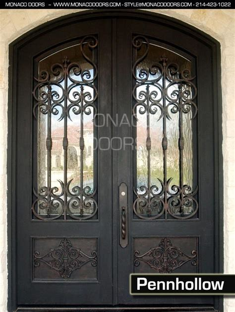 metal front doors for homes with glass iron doors steel entry doors monaco doors