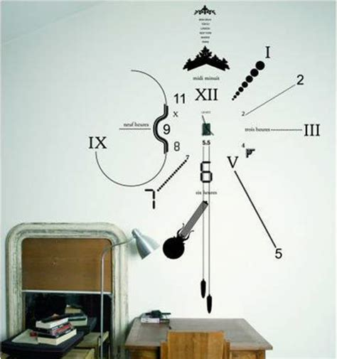 sticker wall clock clock wall sticker