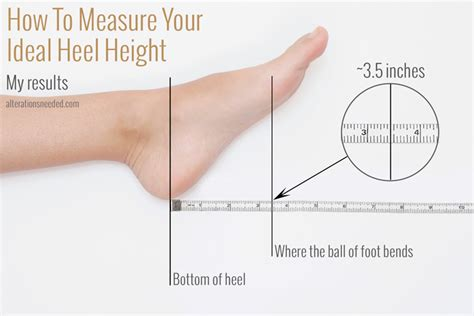 how are measured how to measure your ideal heel height alterations needed