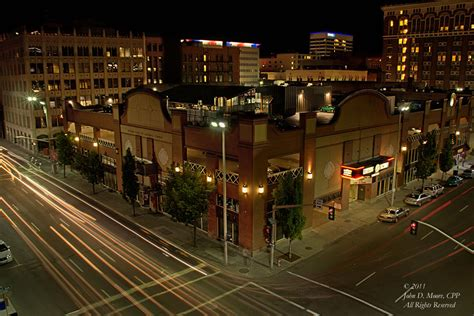 spokane the knitting factory and streets looking at the knitting
