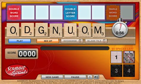 scrabble sprint two new and another daily special added to