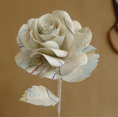 rosary made from roses map paper by suzi mclaughlin notonthehighstreet